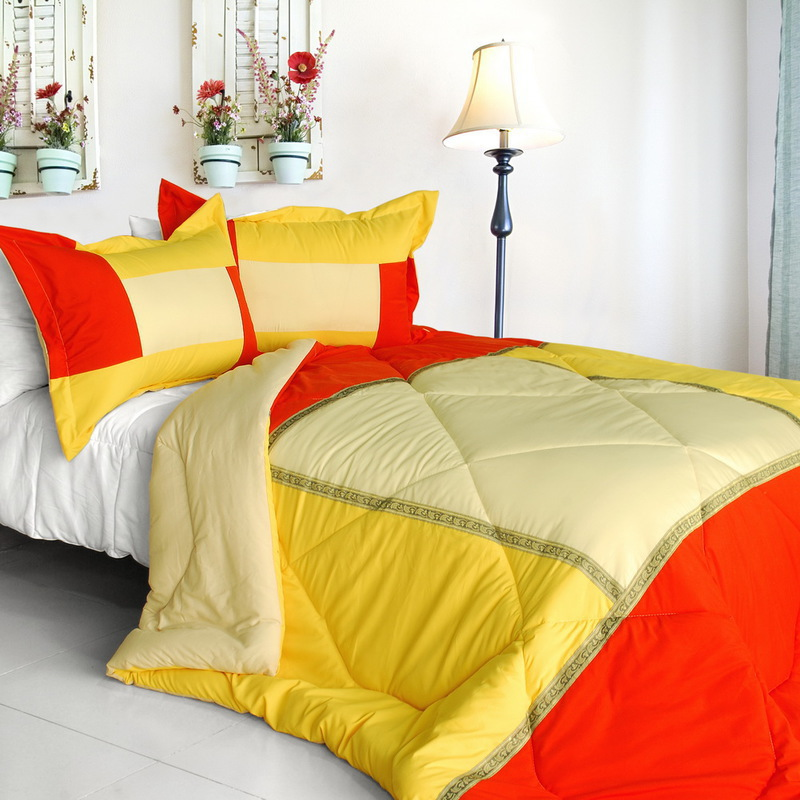 blancho quilted patchwork down alternative comforter set