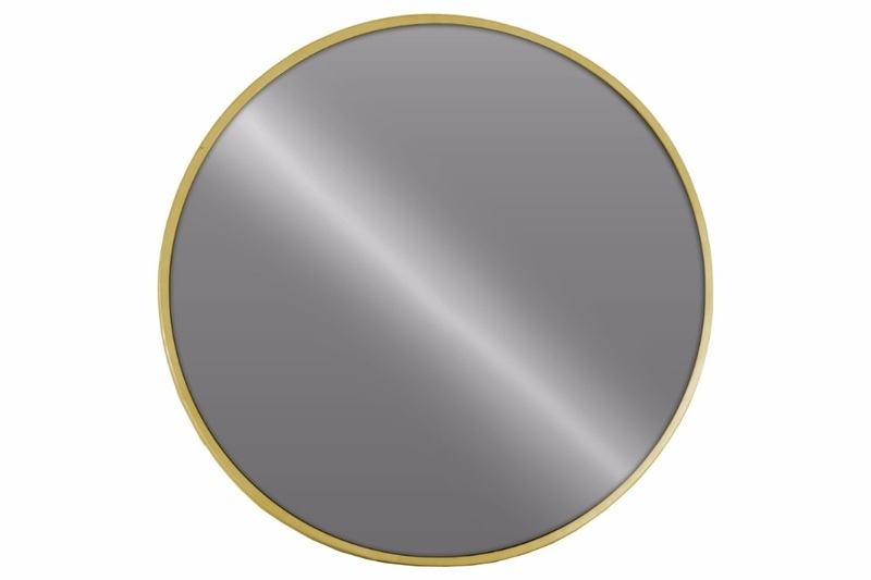 Gold Metal Wall Mirror: Benzara Metal Round Wall Mirror Metallic Finish-gold