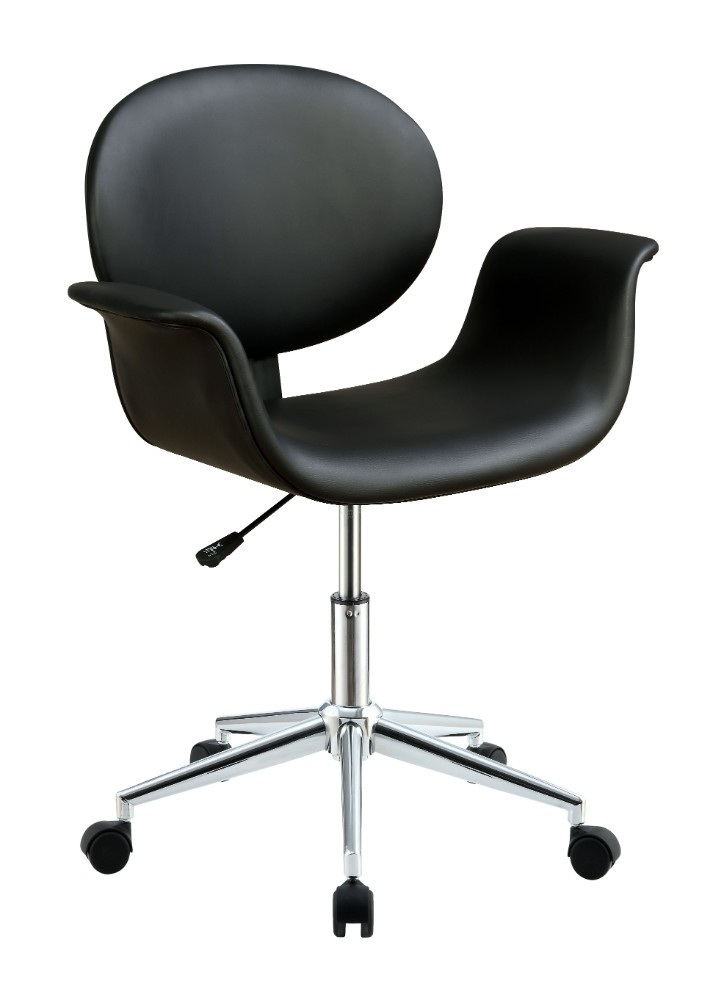Wood Arm Chairs For Office ~ Benzara metal wooden office arm chair black chairs