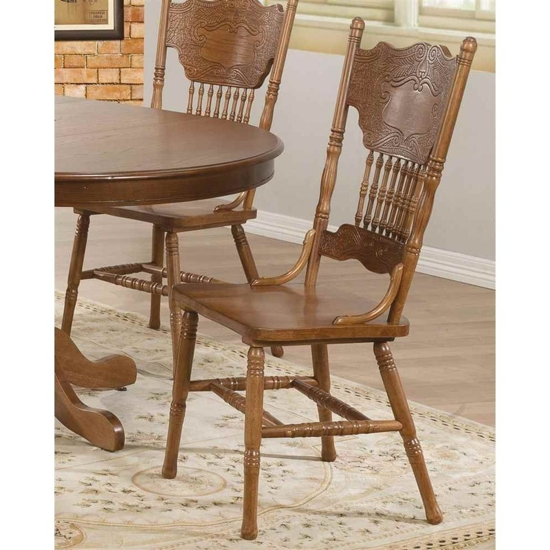 Benzara Traditionally Designed Wooden Dining Side Chair