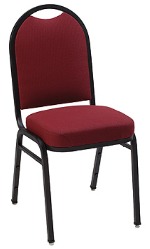 "KFI ""1530"" Series Stack Chair with Grade 3 Fabric: 3"" Seat, Without Arms"