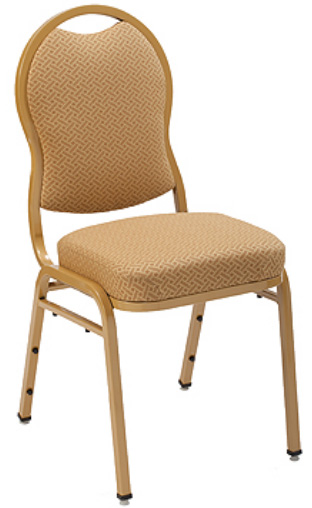 "KFI 1635 ""1630"" Series Stack Chair with Grade 2 Fabric: 3"" Seat, Without Arms"
