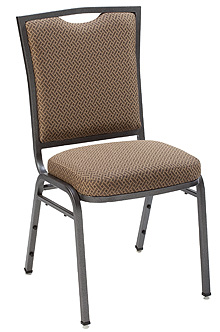 "KFI 1839 ""1830"" Series Stack Chair with Vinyl Fabric: 3"" Seat, Without Arms"