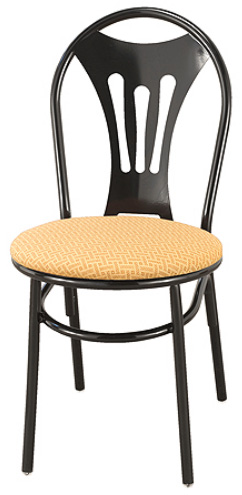 "KFI 3201-US ""3200"" Series Cafe Chair with Upholstered Seat"