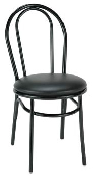 "KFI 3210 ""3200"" Series Cafe Chair with Upholstered Seat"