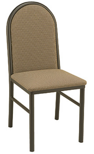 "KFI BR3721-US ""3700"" Series Cafe Chair with Upholstered Seat: Without Arms"