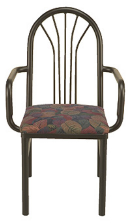 "KFI 3721-US ""3700"" Series Cafe Chair with Upholstered Seat"
