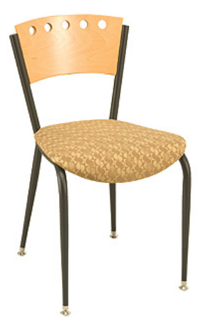 "KFI 3818A-US ""3800"" Series Cafe Chair with Upholstered Seat: Without Arms"