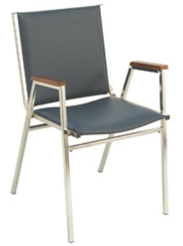 "KFI 411 ""400"" Series 1"" Seat Stack Chair with Grade 2 Fabric"