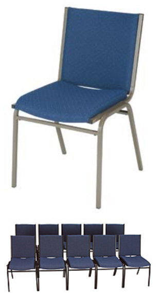 "KFI 420 ""400"" Series 2"" Seat Stack Chair with Grade 2 Fabric"