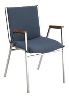 "KFI 421 ""400"" Series 2"" Seat Stack Chair with Grade 1 Fabric"