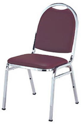 "KFI 510 ""500"" Series 1"" Seat Stack Chair with Vinyl Fabric, Without Arms"