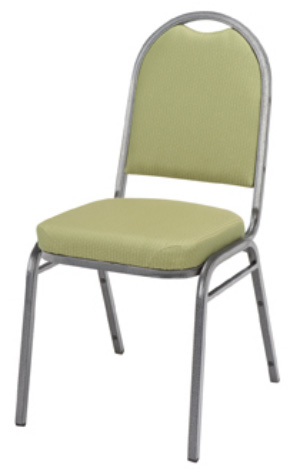 "KFI 520 ""500"" Series 2"" Seat Stack Chair with Vinyl Fabric, Without Arms"