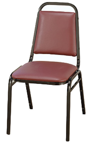"KFI 810 ""800"" Series 1 1/2"" Dome Seat Stack Chair with Grade 1 Fabric, Without Arms"