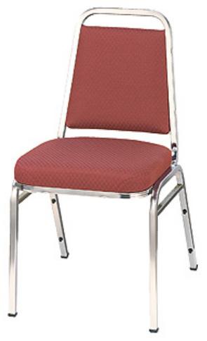"KFI 820 ""800"" Series 2"" Dome Seat Stack Chair with Grade 3 Fabric, Without Arms"
