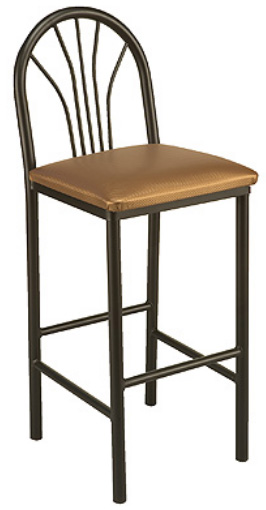 "KFI BR3720-US ""3700"" Series Cafe Chair with Upholstered Seat"