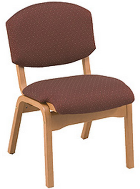 "KFI CH120 ""100"" Series Wood Stack Chair with Vinyl Fabric"