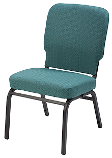 "KFI ""HTB1040"" Series 3.5"" Seat Stack Chair with Grade 1 Fabric, Without Arms"
