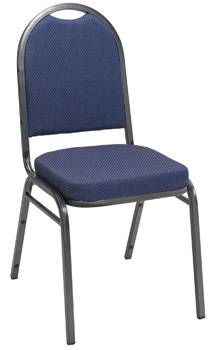 KFI IM520SV Series Stack Chair: Silver Frame with Solid Fabric