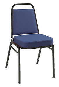 KFI IM820BK Series Stack Chair: Black Frame with Vinyl