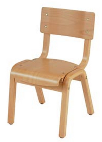 "KFI ""1100"" Series Chair: Natural, 14"" Seat Height"