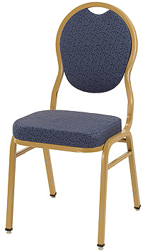 "KFI ""1630"" Series Stack Chair with Grade 2 Fabric: 3"" Seat, Without Arms"