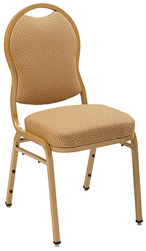 "KFI 1635 ""1630"" Series Stack Chair with Vinyl Fabric: 3"" Seat, Without Arms"