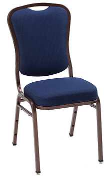 "KFI 1835 ""1830"" Series Stack Chair with Grade 2 Fabric: 3"" Seat, Without Arms"