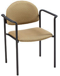 "KFI 1311 ""1300"" Series Stack Chair with Grade 1 Fabric: 1 1/2"" Seat, With Arms"