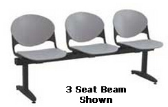 "KFI ""2000"" Series Beam Seating: 2 Seat Beam"