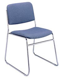 "KFI 310 ""300"" Series 1 1/2"" Seat Stack Chair with Vinyl Fabric"