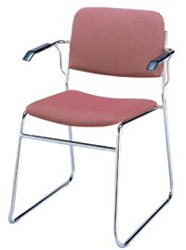 "KFI 311 ""300"" Series 1 1/2"" Seat Stack Chair with Vinyl Fabric"