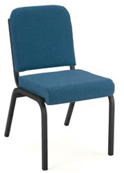 "KFI FR1020 ""1000"" Series 2"" Front Roll Seat Stack Chair with Vinyl Fabric, Without Arms"
