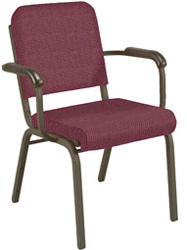 "KFI FR1021 ""1000"" Series Stack Chair with Grade 3 Fabric, With Arms"