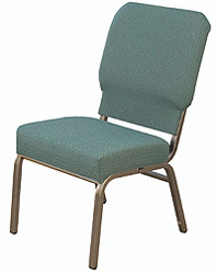 "KFI ""HWC1030"" Series 3"" Seat Stack Chair with Grade 2 Fabric, Without Arms"