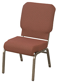 "KFI ""HWCR1030"" Series 3"" Seat Stack Chair with Grade 2 Fabric, Without Arms"
