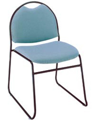 "KFI RB310 ""300"" Series 1 1/2"" Seat Stack Chair with Vinyl Fabric"
