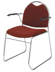 "KFI RB311 ""300"" Series 1 1/2"" Seat Stack Chair with Grade 3 Fabric"