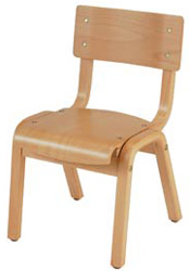 "KFI ""1100"" Series Chair: Natural, 12"" Seat Height"
