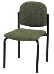 "KFI 920 ""900"" Series Upholstered Stack Chair with Grade 3 Fabric, Without Arms"