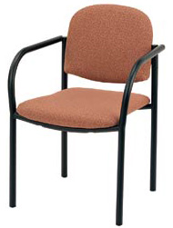 "KFI 921 ""900"" Series Upholstered Stack Chair with Grade 1 Fabric, With Arms"
