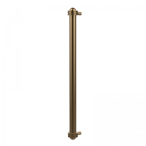 Allied Brass 402AG-RP-CA 18 Inch Refrigerator Pull with Groovy Accents Antique Copper