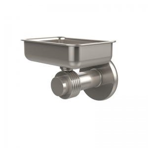 Allied Brass Mercury Collection Wall Mounted Soap Dish with Groovy Accents (product:932G, option:932G-SN): Satin Nickel