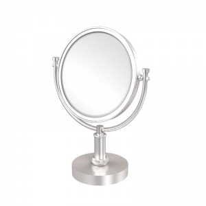 Allied Brass 8 Inch Vanity Top Make-Up Mirror 2X Magnification (product:DM-4T/2X, option:DM-4T/2X-SCH): Satin Chrome