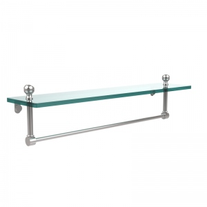 Allied Brass Mambo 22 Inch  Glass Vanity Shelf  with Integrated Towel Bar (product:MA-1/22TB, option:MA-1/22TB-PC): Polished Chrome