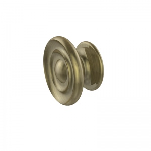 Allied Brass Designer Cabinet Knob (product:S-1, option:S-1-ABR): Antique Brass