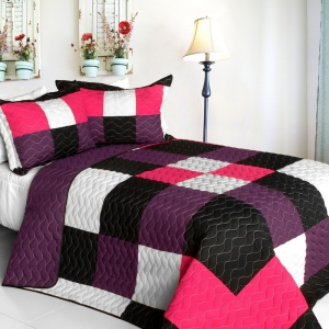 Blancho  3PC Vermicelli - Quilted Patchwork Quilt Set  - Partner