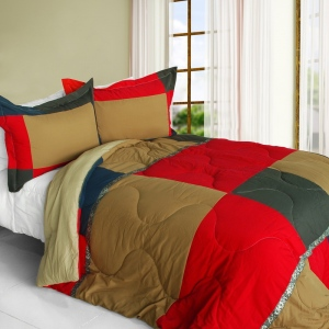 Blancho  Quilted Patchwork Down Alternative Comforter Set  - Delicious Cake