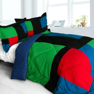 Blancho  Quilted Patchwork Down Alternative Comforter Set  - Exclusive Memory