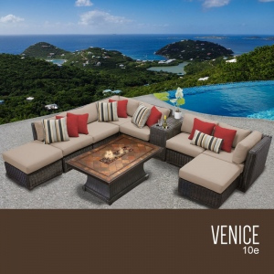 Venice 10 Piece Outdoor Wicker Patio Furniture Set 10e